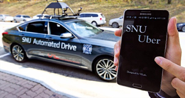 The SNUber taxi and its mobile app